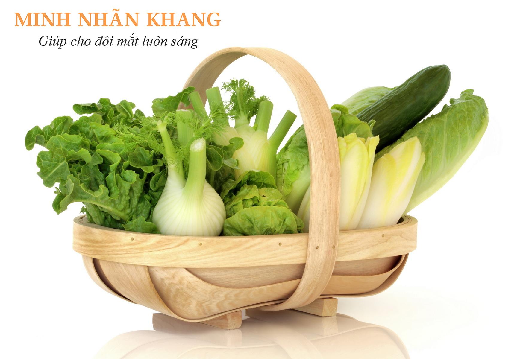 Rau cải xanh chứa nhiều lutein và zeaxanthin tốt cho mắt